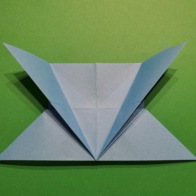 ゲッコウガの折り紙 折り方作り方1顔 (17)