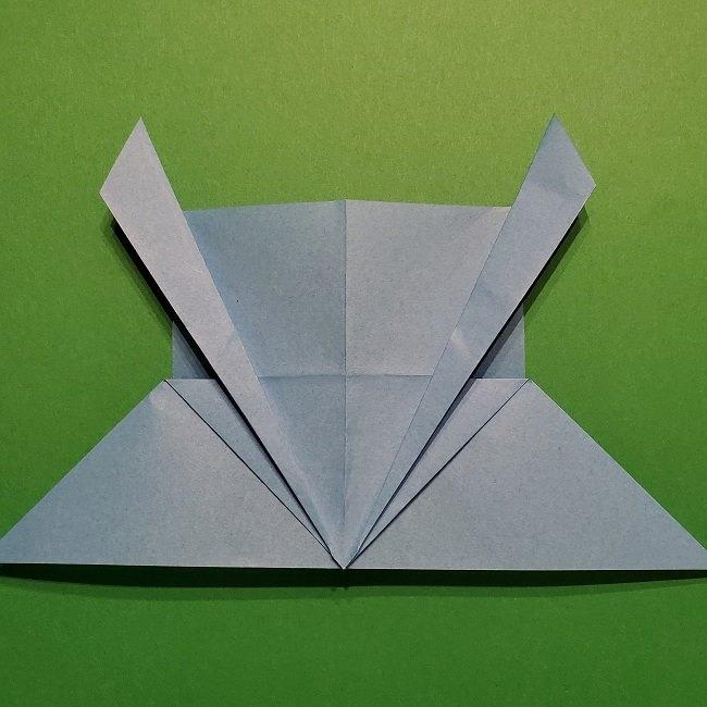 ゲッコウガの折り紙 折り方作り方1顔 (18)