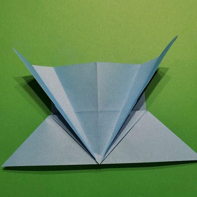 ゲッコウガの折り紙 折り方作り方1顔 (19)
