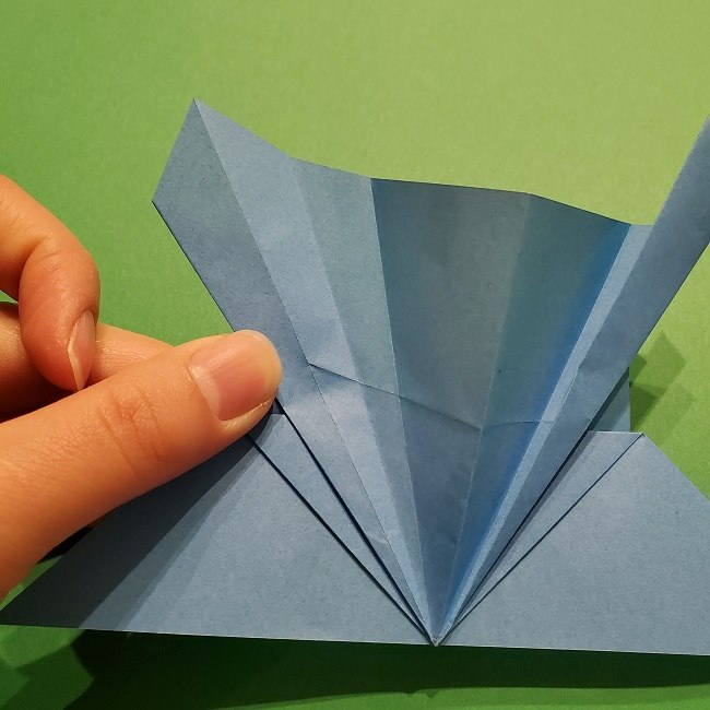 ゲッコウガの折り紙 折り方作り方1顔 (20)