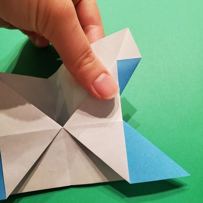 ゲッコウガの折り紙 折り方作り方1顔 (21)