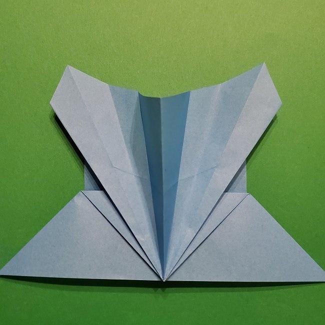 ゲッコウガの折り紙 折り方作り方1顔 (22)