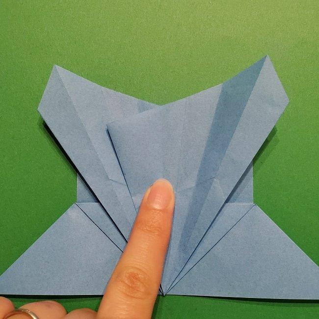 ゲッコウガの折り紙 折り方作り方1顔 (24)