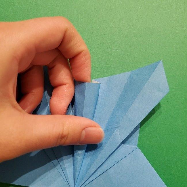 ゲッコウガの折り紙 折り方作り方1顔 (25)