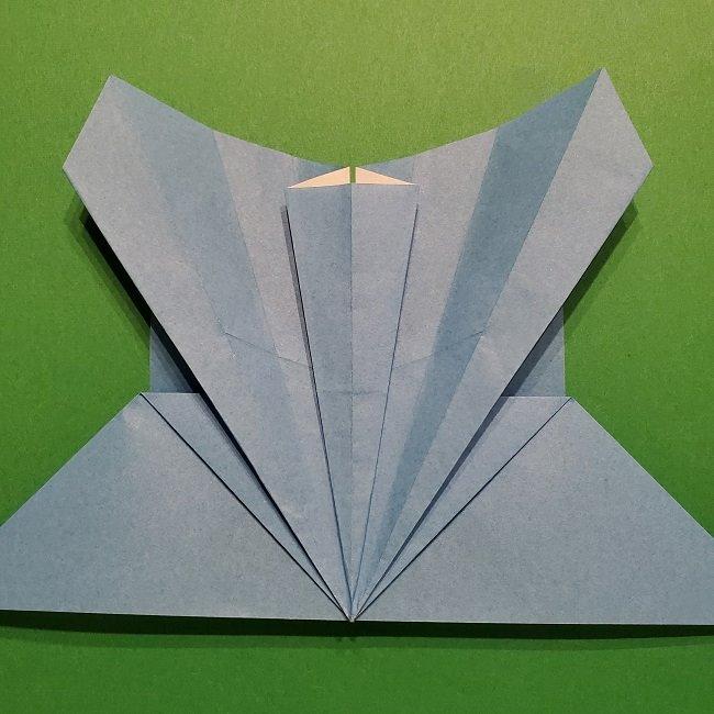 ゲッコウガの折り紙 折り方作り方1顔 (26)