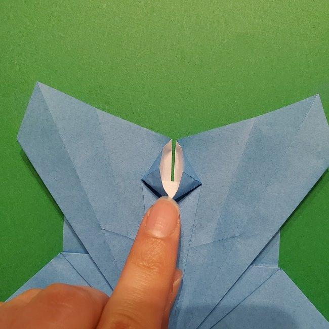 ゲッコウガの折り紙 折り方作り方1顔 (27)