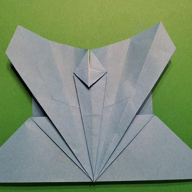 ゲッコウガの折り紙 折り方作り方1顔 (28)