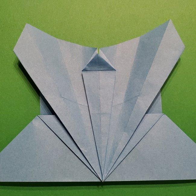 ゲッコウガの折り紙 折り方作り方1顔 (29)