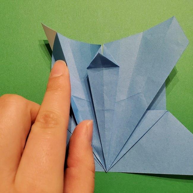 ゲッコウガの折り紙 折り方作り方1顔 (30)