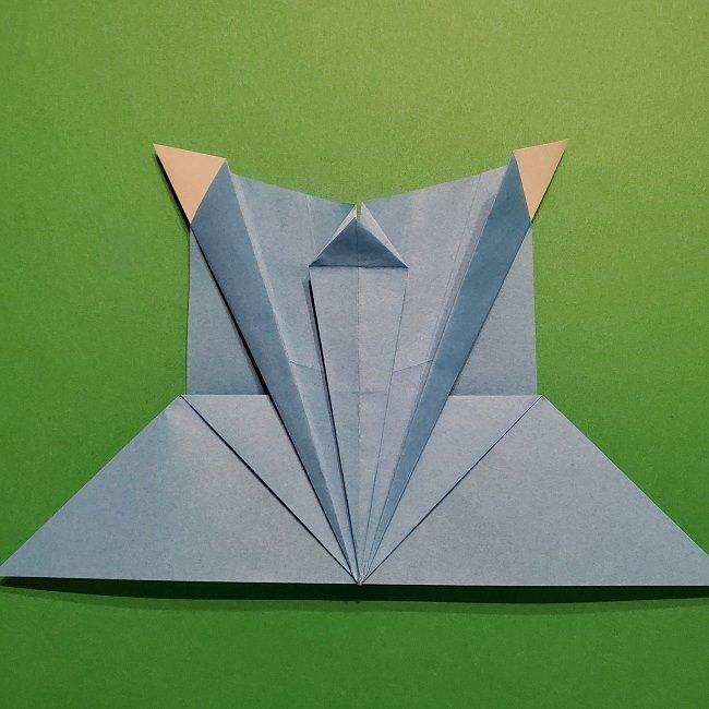 ゲッコウガの折り紙 折り方作り方1顔 (31)