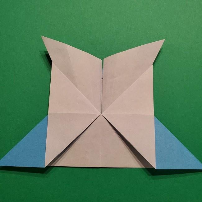 ゲッコウガの折り紙 折り方作り方1顔 (32)