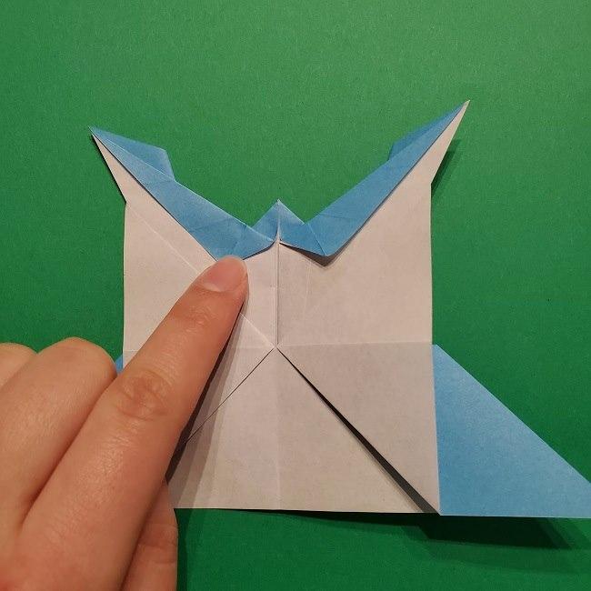 ゲッコウガの折り紙 折り方作り方1顔 (33)