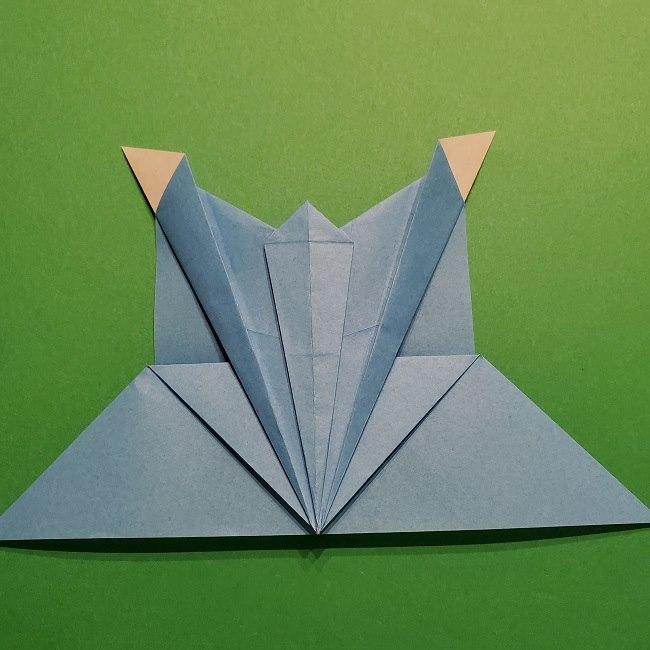 ゲッコウガの折り紙 折り方作り方1顔 (34)