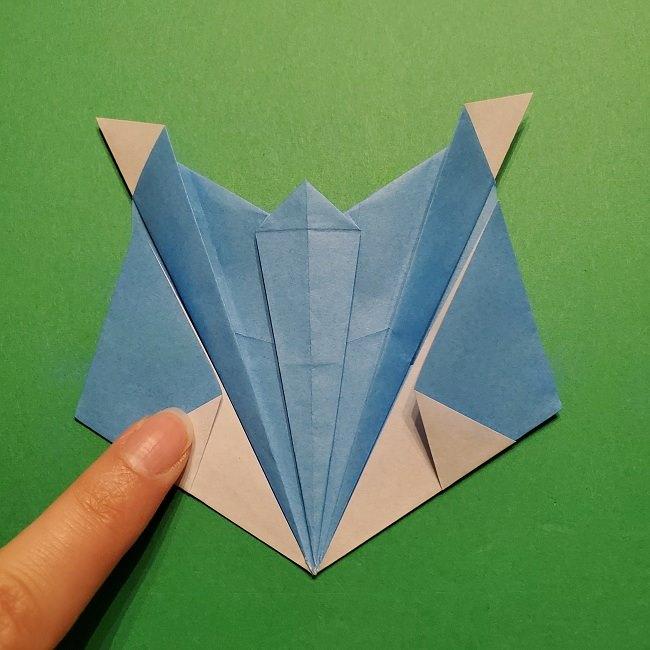 ゲッコウガの折り紙 折り方作り方1顔 (35)