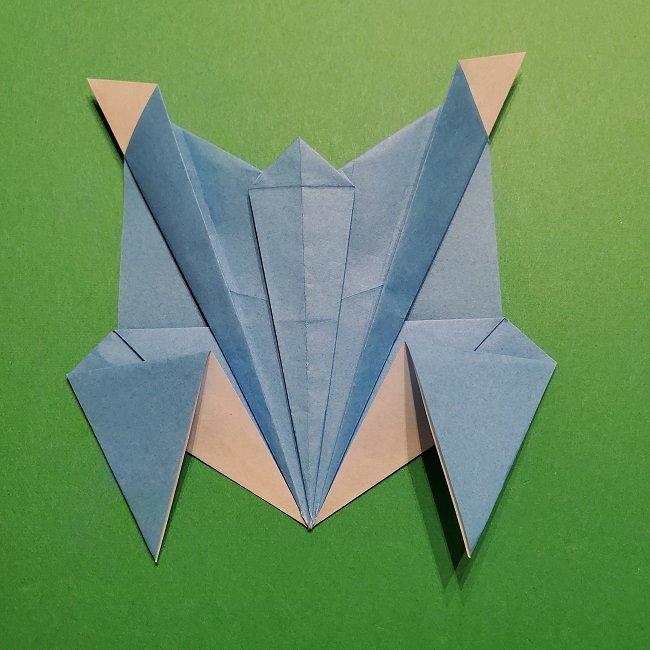 ゲッコウガの折り紙 折り方作り方1顔 (36)