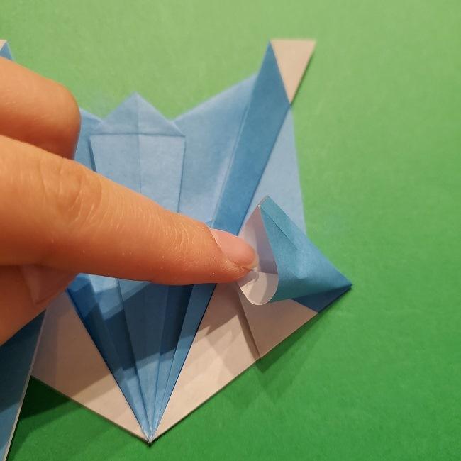 ゲッコウガの折り紙 折り方作り方1顔 (37)