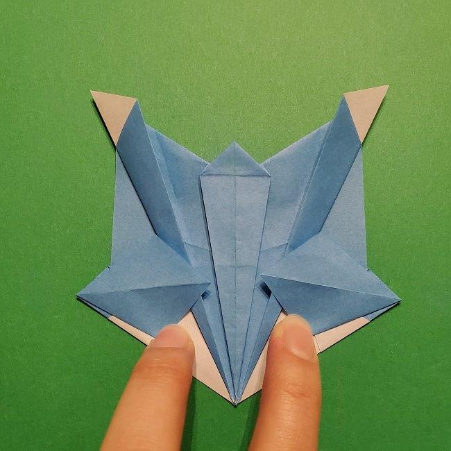 ゲッコウガの折り紙 折り方作り方1顔 (38)