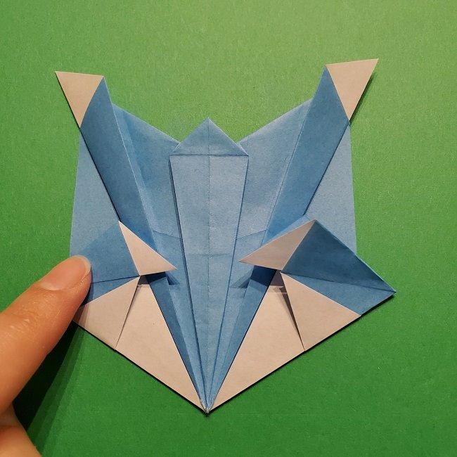 ゲッコウガの折り紙 折り方作り方1顔 (39)