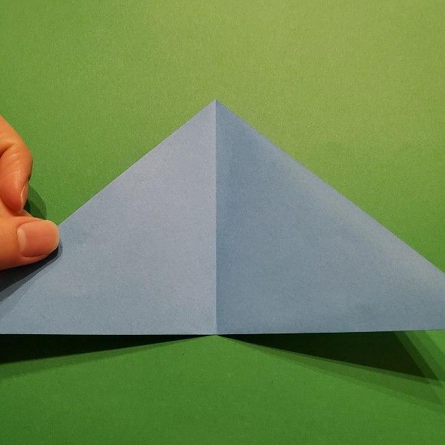 ゲッコウガの折り紙 折り方作り方1顔 (4)