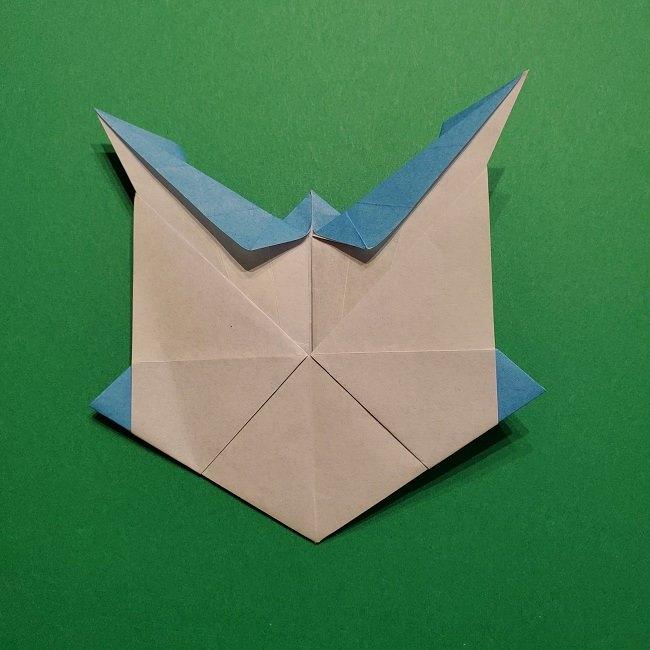 ゲッコウガの折り紙 折り方作り方1顔 (40)