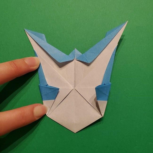 ゲッコウガの折り紙 折り方作り方1顔 (41)