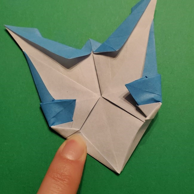 ゲッコウガの折り紙 折り方作り方1顔 (42)