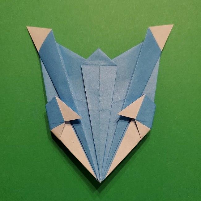 ゲッコウガの折り紙 折り方作り方1顔 (43)