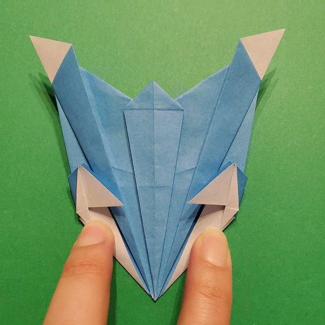 ゲッコウガの折り紙 折り方作り方1顔 (44)