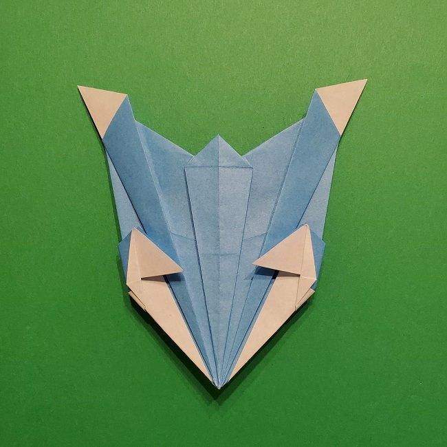 ゲッコウガの折り紙 折り方作り方1顔 (45)