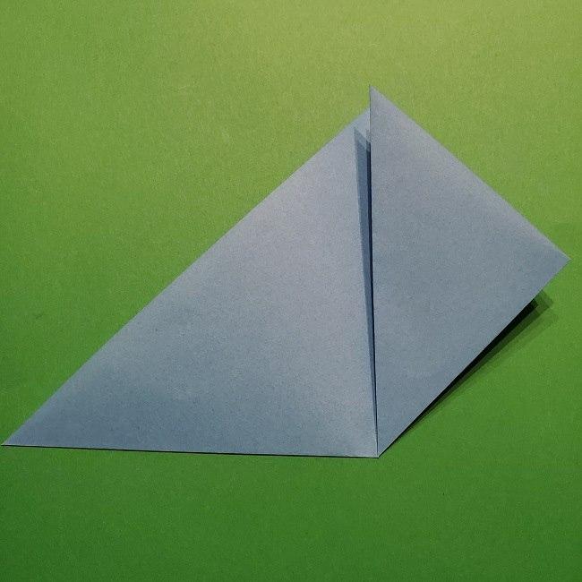 ゲッコウガの折り紙 折り方作り方1顔 (5)