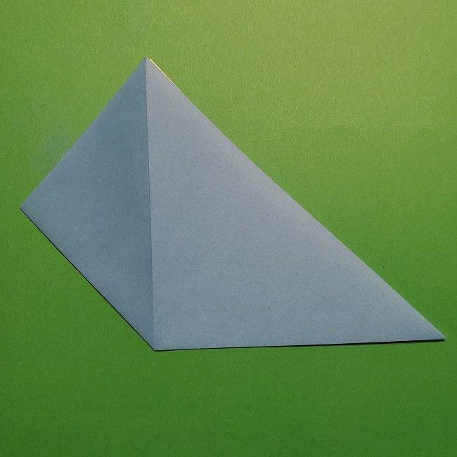ゲッコウガの折り紙 折り方作り方1顔 (6)