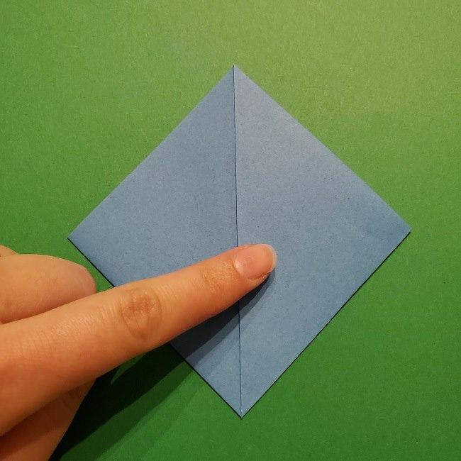 ゲッコウガの折り紙 折り方作り方1顔 (7)