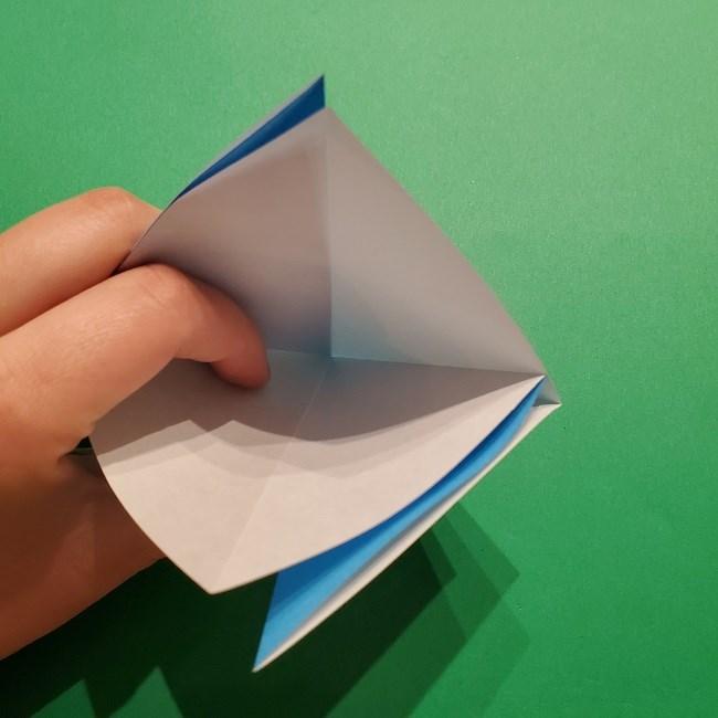ゲッコウガの折り紙 折り方作り方1顔 (8)