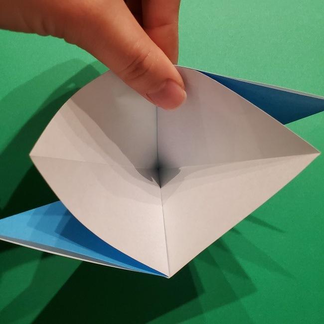 ゲッコウガの折り紙 折り方作り方1顔 (9)