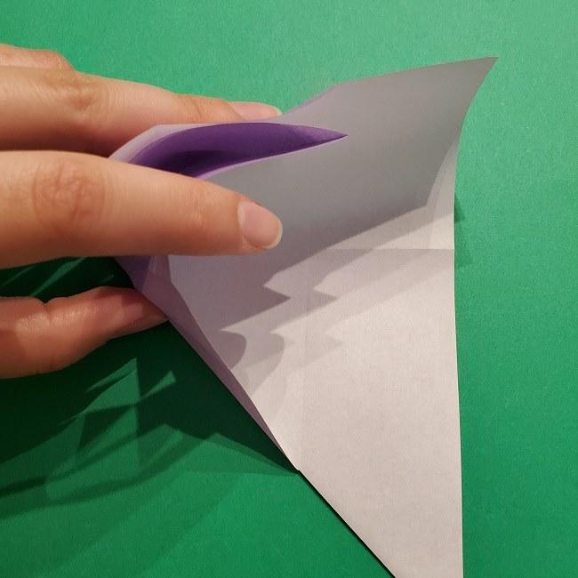 ゲッコウガの折り紙 折り方作り方2首 (12)
