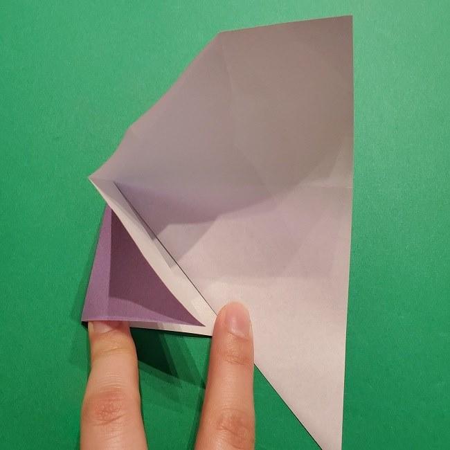ゲッコウガの折り紙 折り方作り方2首 (13)
