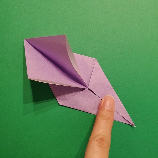 ゲッコウガの折り紙 折り方作り方2首 (22)