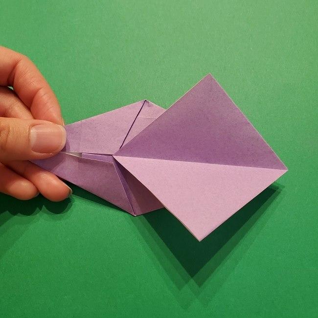 ゲッコウガの折り紙 折り方作り方2首 (23)
