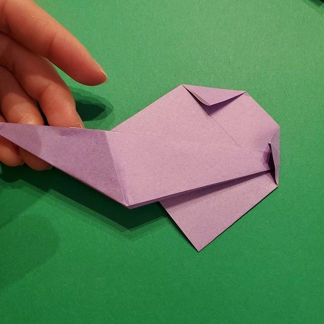 ゲッコウガの折り紙 折り方作り方2首 (26)