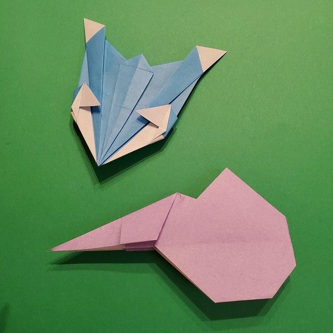 ゲッコウガの折り紙 折り方作り方2首 (27)