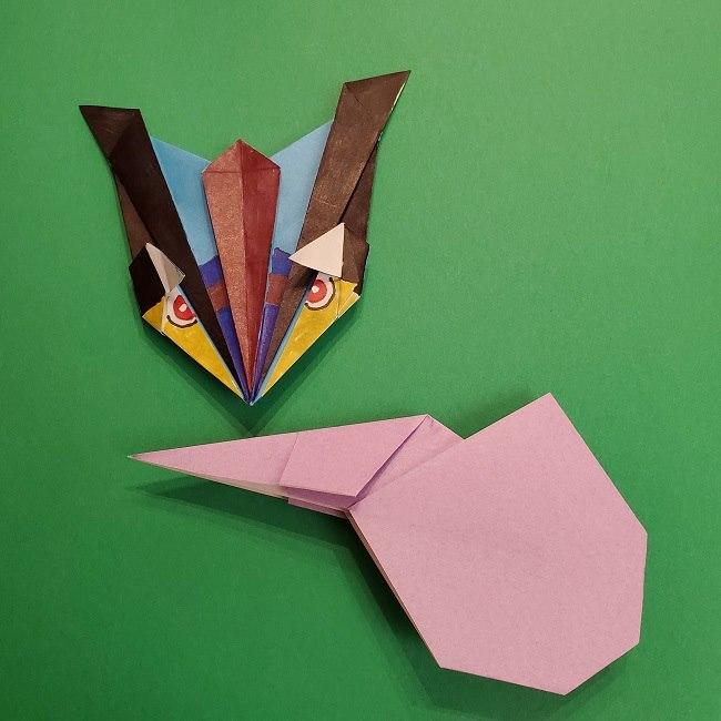 ゲッコウガの折り紙 折り方作り方2首 (29)