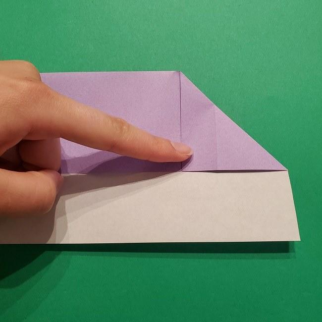 ゲッコウガの折り紙 折り方作り方2首 (7)