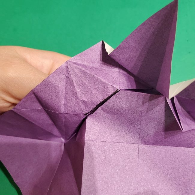 ゲンガーの折り紙 作り方折り方 (21)