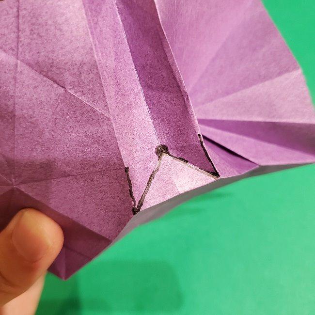 ゲンガーの折り紙 作り方折り方 (54)