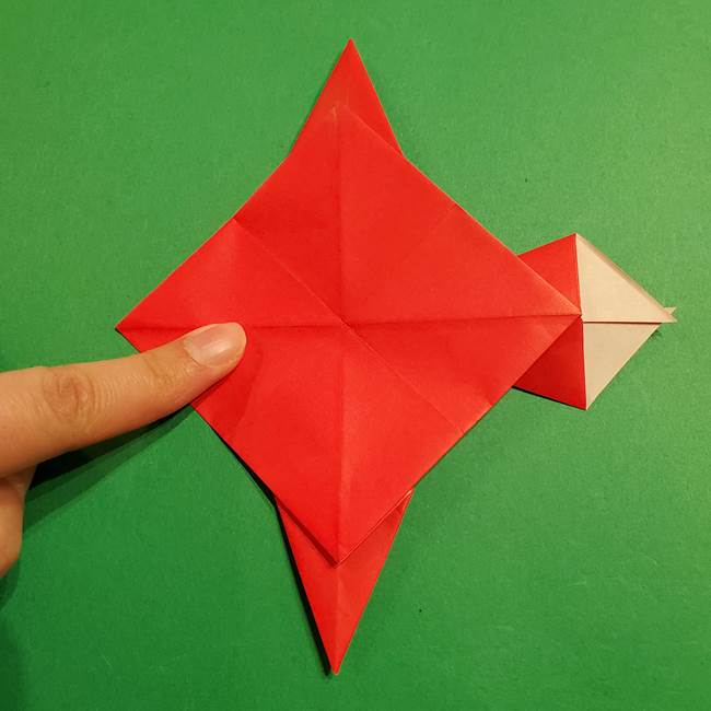 コイキングの折り紙は簡単!実際の折り方作り方(34)