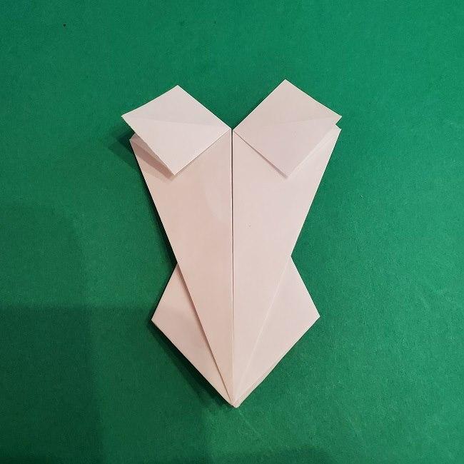 セーラームーンの折り紙の折り方作り方☆ドレス (25)