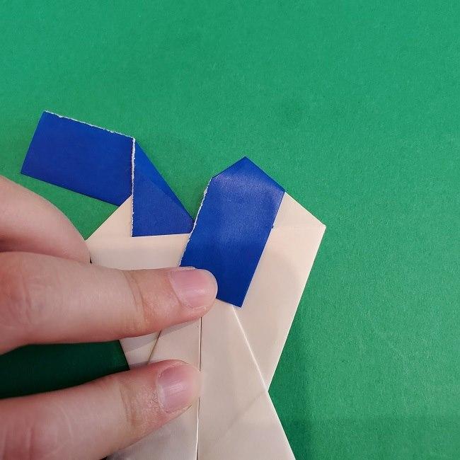 セーラームーンの折り紙の折り方作り方☆ドレス (36)