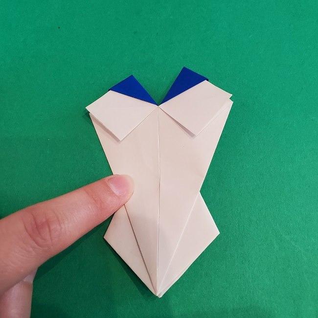 セーラームーンの折り紙の折り方作り方☆ドレス (43)