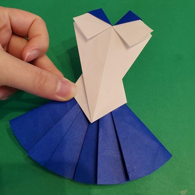 セーラームーンの折り紙の折り方作り方☆ドレス (54)