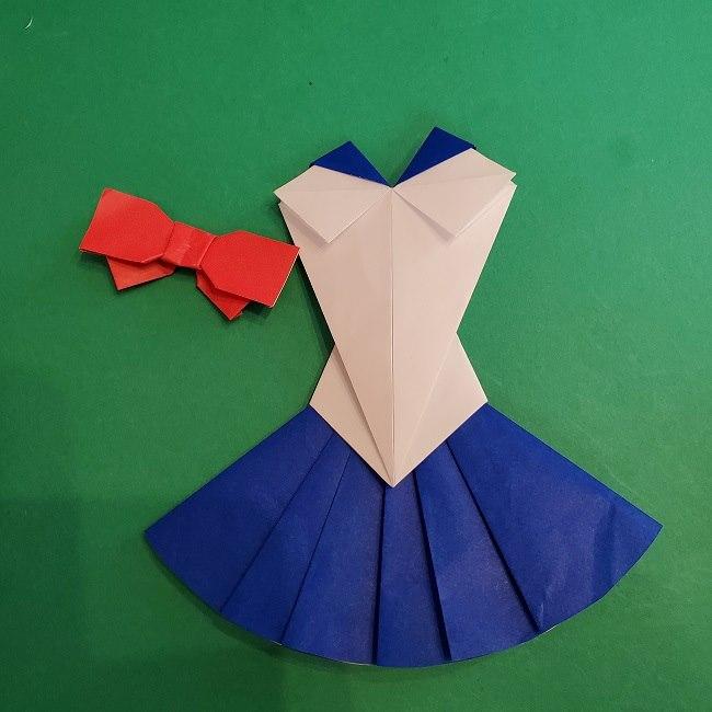 セーラームーンの折り紙の折り方作り方☆ドレス (56)